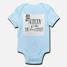 NOBODY PUTS THIS KID IN CORNER Infant Bodysuit
