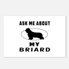 Ask Me About My Briard Postcards (Package of 8)