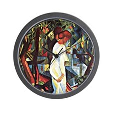 Couple in the Woods Wall Clock