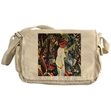 Couple in the Woods Messenger Bag