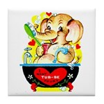 Elephant Love Tile Coaster
