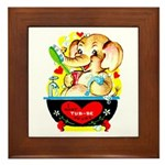 Elephant Love Framed Tile