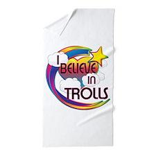 I Believe In Trolls Cute Believer Design Beach Tow