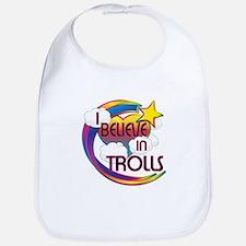 I Believe In Trolls Cute Believer Design Bib