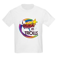 I Believe In Trolls Cute Believer Design T-Shirt