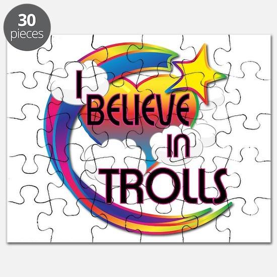 I Believe In Trolls Cute Believer Design Puzzle