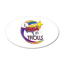 I Believe In Trolls Cute Believer Design Wall Decal