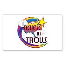 I Believe In Trolls Cute Believer Design Decal