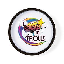 I Believe In Trolls Cute Believer Design Wall Cloc