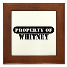 Property of Whitney Framed Tile