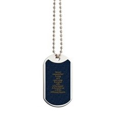 Joshua 1:9 Tapestry blue Dog Tags