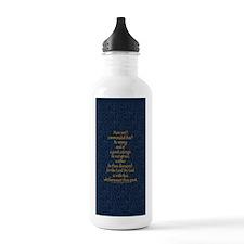 Joshua 1:9 Tapestry blue Sports Water Bottle