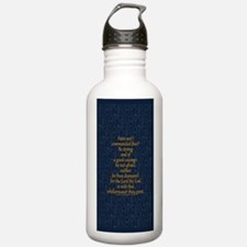 Joshua 1:9 Tapestry blue Sports Water Bottle