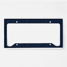 Joshua 1:9 Tapestry blue License Plate Holder