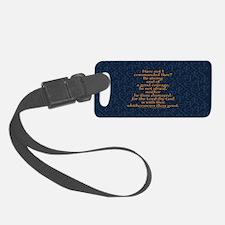 Joshua 1:9 Tapestry blue Luggage Tag