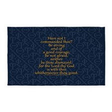 Joshua 1:9 Tapestry blue 3'x5' Area Rug