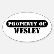 Property of Wesley Oval Decal
