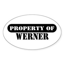 Property of Werner Oval Decal