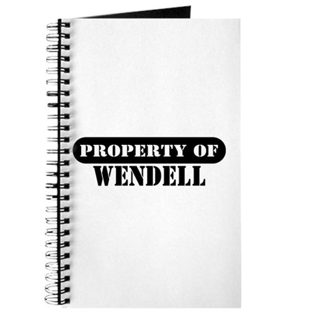Property of Wendell Journal