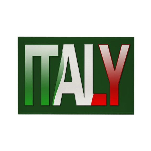 """""""Italy Bubble Letters"""" Rectangle Magnet by thelaststraw"""