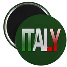 """""""Italy Bubble Letters"""" Magnet"""