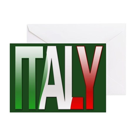 Italy Bubble Letters Greeting Cards Pk Of 10 By
