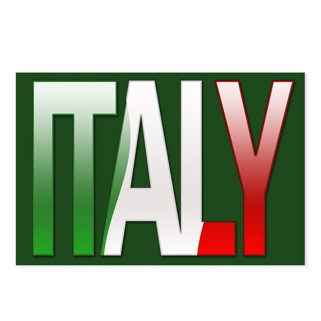 """""""Italy Bubble Letters"""" Postcards (Package of 8) by"""