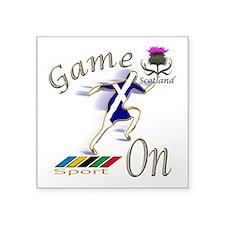 Scotland runner game on Sticker