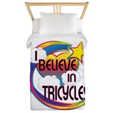 I Believe In Tricycles Cute Believer Design Twin D