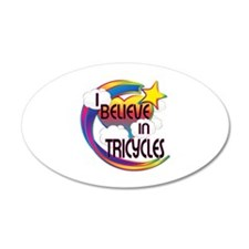I Believe In Tricycles Cute Believer Design Wall Decal