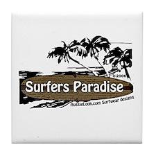 Funny Surfer paradise Tile Coaster