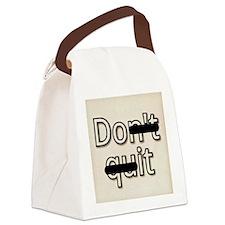 Don't Quit, Do It Canvas Lunch Bag