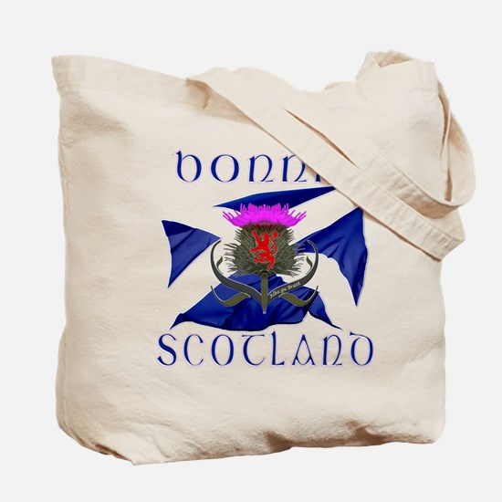 Scotland runner game on Tote Bag