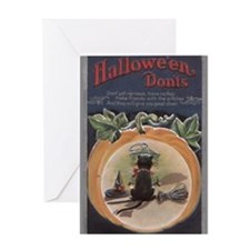 Cute Vintage halloween Greeting Card