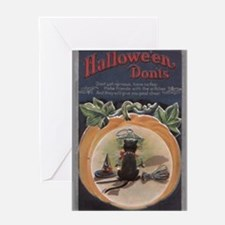 Unique Broomstick Greeting Card