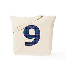 Blue tartan 9 Tote Bag