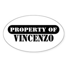 Property of Vincenzo Oval Decal