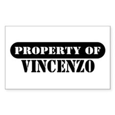 Property of Vincenzo Rectangle Decal