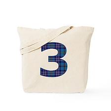 Blue tartan 3 Tote Bag