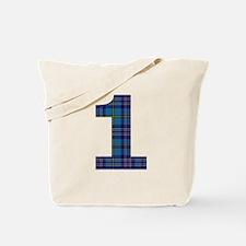 Blue tartan 1 Tote Bag