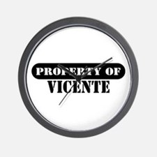 Property of Vicente Wall Clock