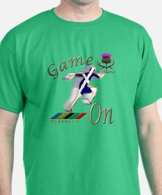 Scotland runner game on T-Shirt