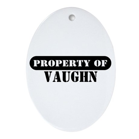 Property of Vaughn Oval Ornament