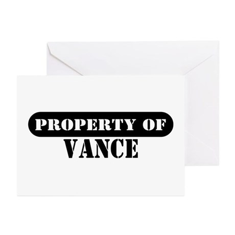 Property of Vance Greeting Cards (Pk of 10)
