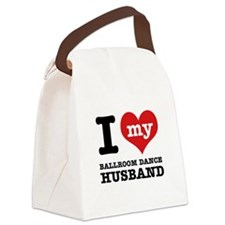 I love my ballroom Husband Canvas Lunch Bag