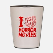 I love horror movies Shot Glass