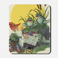 Vintage Frog Choir Singing Mousepad