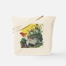 Vintage Frog Choir Singing Tote Bag