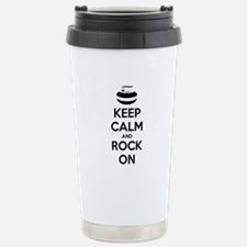 Keep Calm and Rock On - Curling Travel Mug