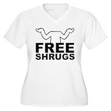 Free Shrugs Not Free Hugs Plus Size T-Shirt